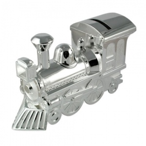 Train Money Box Silver Plated (can be personalised)