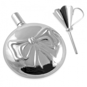 Tied Bow Perfume Bottle with Funnel Sterling Silver