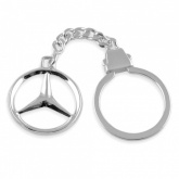 Mercedes Benz Logo/Badge Hallmarked Sterling Silver Keyring