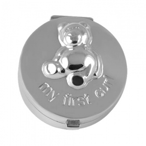 My First Curl Teddy Bear Sterling Silver Box
