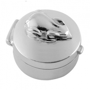 Mouse Sterling Silver Trinket/Pill Box