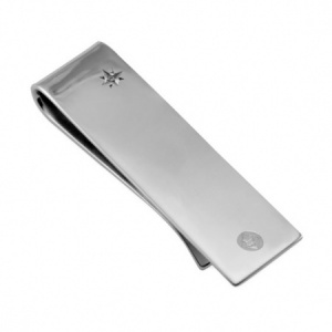 Queen's Diamond Jubilee Sterling Silver & Diamond Money Clip (can be personalised)