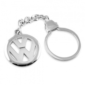 Volkswagen VW Logo/Badge Sterling Silver Keyring