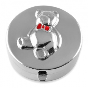 Teddy Bear Sterling Silver First Tooth or Keepsake Box