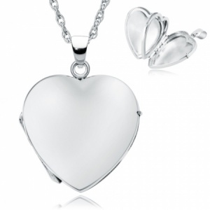 Heart Shaped Sterling Silver 4 Photo Locket (can be personalised)