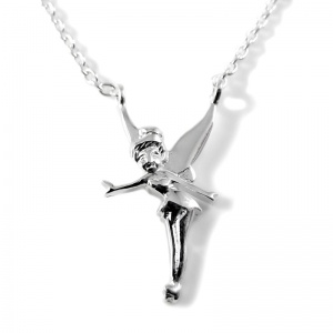 Tinkerbell Fairy Necklace - 925 Sterling Silver