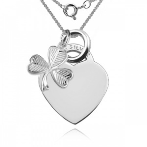 'A Lucky Irish Heart' Necklace Personalised