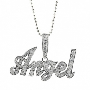 Angel Large Cubic Zirconia & Sterling Silver Necklace