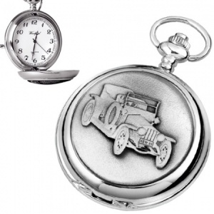 Old Classic Car Pewter Quartz Pocket Watch (can be personalised)