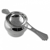 Art Deco Style Tea Strainer Sterling Silver Plated