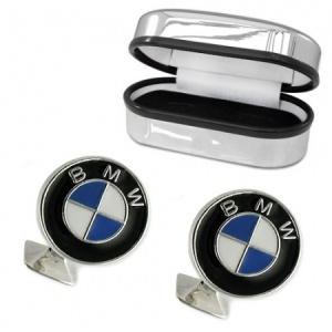 BMW Badge Cufflinks Sterling Silver Plated (can be personalised)