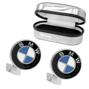 BMW Sterling Silver and Enamel Cufflinks (can be personalised)