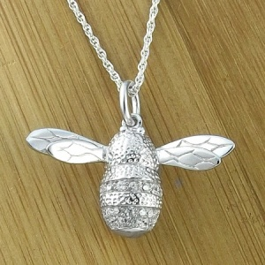 Bumble Bee Sterling Silver & Cubic Zirconia Necklace