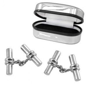 Chain & Barrel Sterling Silver Cufflinks (can be personalised)