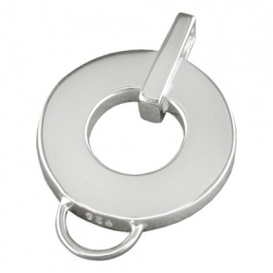 Clip On Sterling Silver Charm Holder (can be personalised)