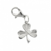 Lucky Irish Shamrock/Clover Sterling Silver Charm