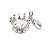 Crown Sterling Charm with Lobster Clasp
