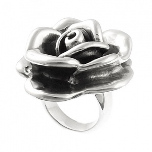 Extra Large Rose Ring Sterling Silver