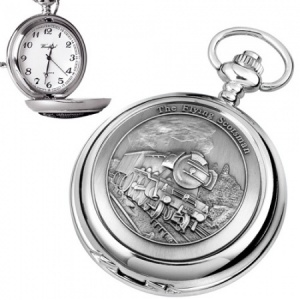 The Flying Scotsman Pewter Quartz Pocket Watch (can be personalised)