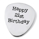 Happy 21st Birthday Guitar Plectrum/Pick (can be personalised)