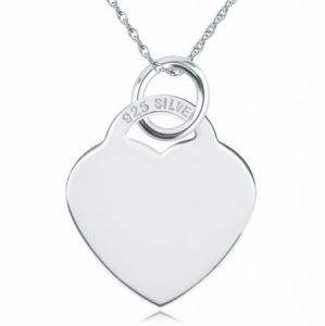 Heart Shaped Sterling Silver Necklace (can be personalised)