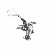 Humming Bird Charm Sterling Silver with Lobster Clasp