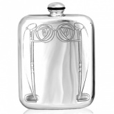 Charles Rennie Mackintosh Border Pewter Hip Flask (can be personalised)