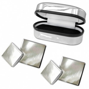 Double Sided Mother of Pearl & Sterling Silver Cufflinks (can be personalised)