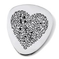 Music Notes Heart Guitar Plectrum/Pick (can be personalised)