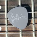 'Musical Note' Guitar Plectrum/Pick - Stainless Steel (Metal) Personalised/Engraved