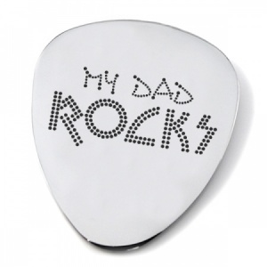 My Dad Rocks Guitar Plectrum/Pick (can be personalised)