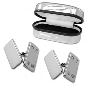 Double Sided Oblong Feature Hallmarked Sterling Silver Cufflinks (can be personalised)