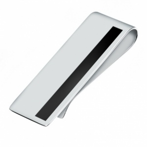 Onyx and Sterling Silver Hallmarked Money Clip (can be personalised)