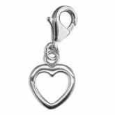 Open Heart Sterling Silver Charm