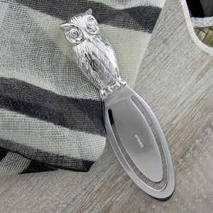 Owl Sterling Silver Bookmark (can be personalised)