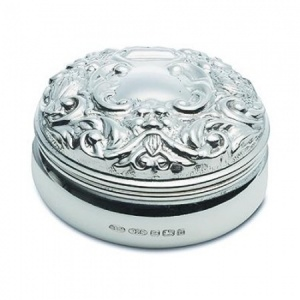 Victorian Style Pill Box Hallmarked Sterling Silver (can be personalised)