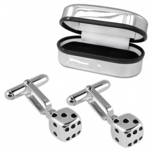 Dice Sterling Silver Cufflinks (can be personalised)