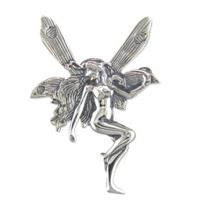Small Fairy Sterling Silver Brooch
