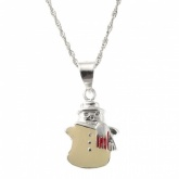 Snowman Christmas Sterling Silver Necklace