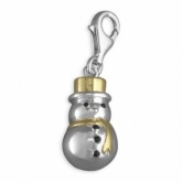 Snowman, Gold Plated & Sterling Silver Charm