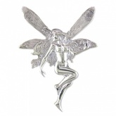 Large Fairy Sterling Silver Brooch