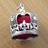 Solid Silver Crown Shaped Pin Cushion