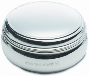Plain Pill Box - 925 Hallmarked Sterling Silver Personalised