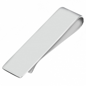 Plain Sterling Silver Plated Money Clip (can be personalised)