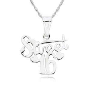 16th Birthday Sweet 16 Sterling Silver Necklace