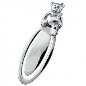 Teddy Bear Sterling Silver Hallmarked Bookmark (can be personalised)