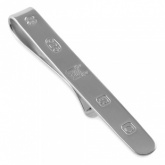 Feature Hallmark Sterling Silver Tie Slide (can be personalised)
