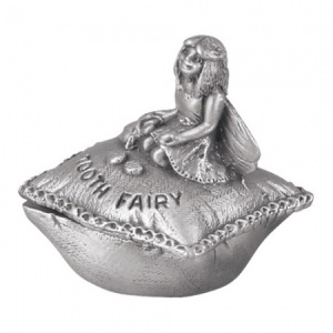 Tooth Fairy on a Cushion First Tooth Pewter Box