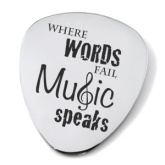 Where Words Fail Music Speaks Guitar Plectrum/Pick (can be personalised)
