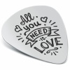 All You Need is Love Plectrum, Personalised, Sterling Silver
